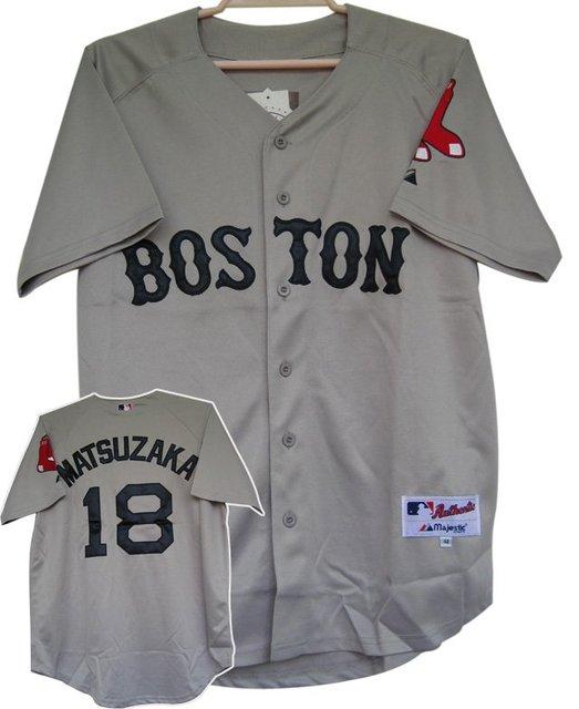 251c4a435 Free Shipping Baseball Jerseys Boston Red Sox  18 Daisuke Matsuzaka Grey  Jersey Road Jersey