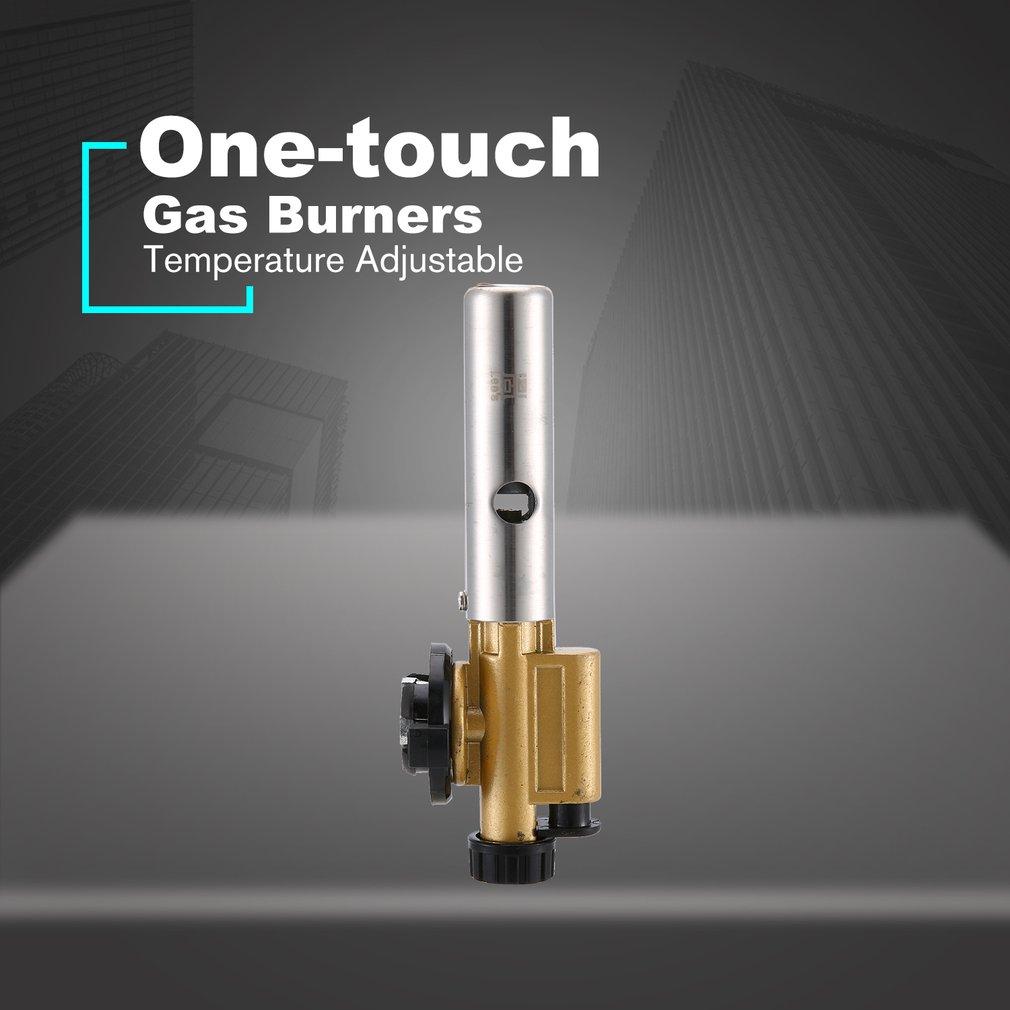 Camping Flame Gun Butane Gas Burners Gun Maker Torch Lighter Piezo Ignition Flamethrower Gas Torch For Outdoor BBQ Picnic