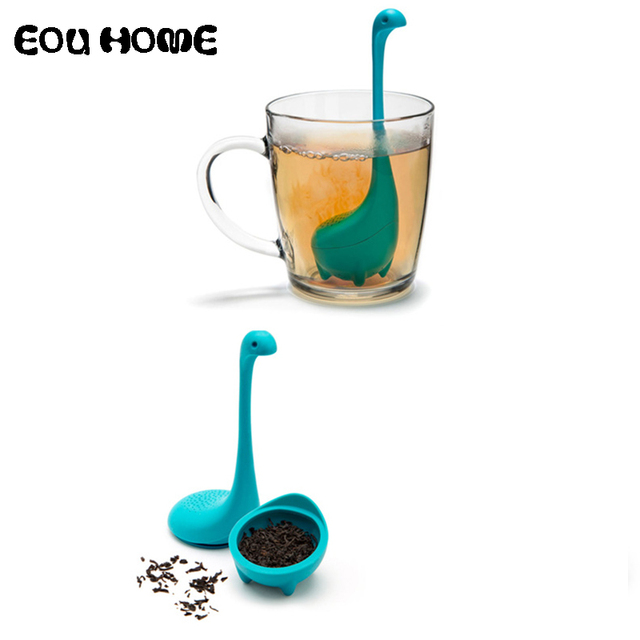 3 Colors Tea Infusers Water Monster Shape Silicone Strainers Strainer Infuser Filter Empty Bag