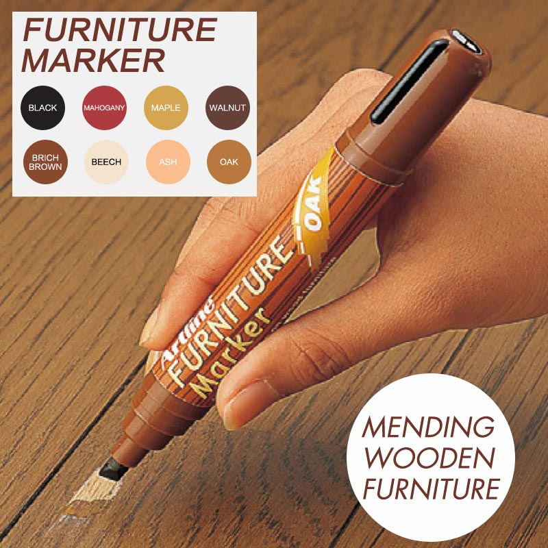 8 Colors 2-5mm Wooden Floor Tables Chairs Remover Scratch Repair Paint Pen Furniture Markers For Mending escape room props hold hands as bridge to unlock support 1 5 people exit game to control 12v em lock