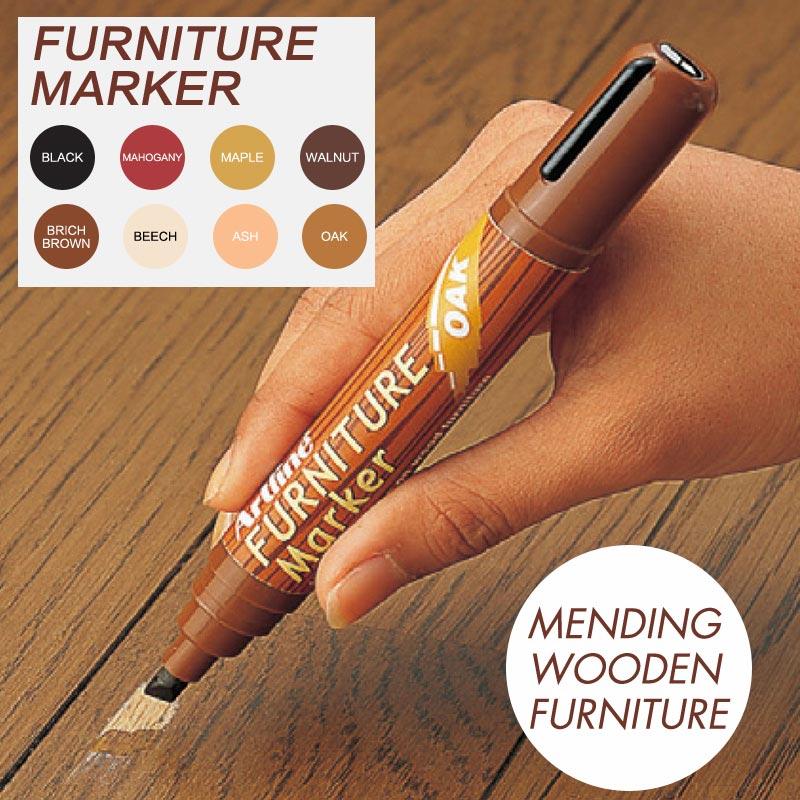 8 Farben 2-5mm Holzboden Tische Stühle Entferner Kratzerreparaturfeder Lackstift Möbel Marker Für Ausbessern