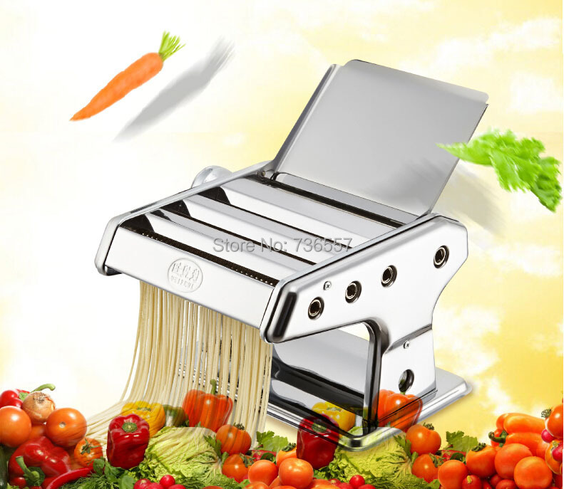 Stainless Steel Manual Noodle Press Household Pasta Making Machine Dough Roller Spaghetti Cutter manual metal bending machine press brake for making metal model diy s n 20012