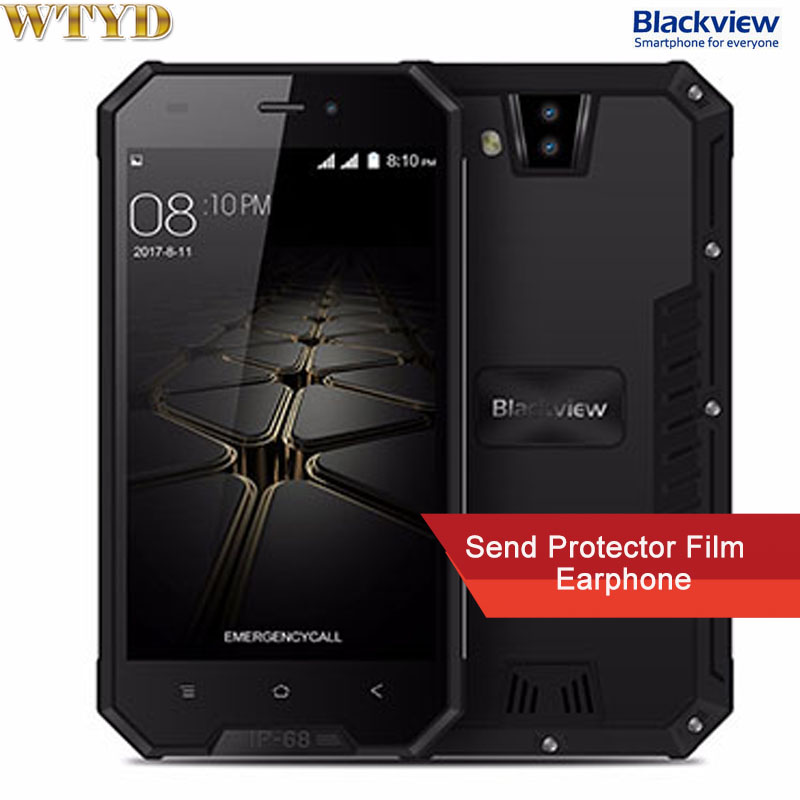 """Blackview BV4000 IP68 Waterproof Mobile Phone 4.7"""" HD MTK6580A Quad Core Android 7.0 1GB+8GB 8MP Dual Rear Cameras 3G Cellphone"""