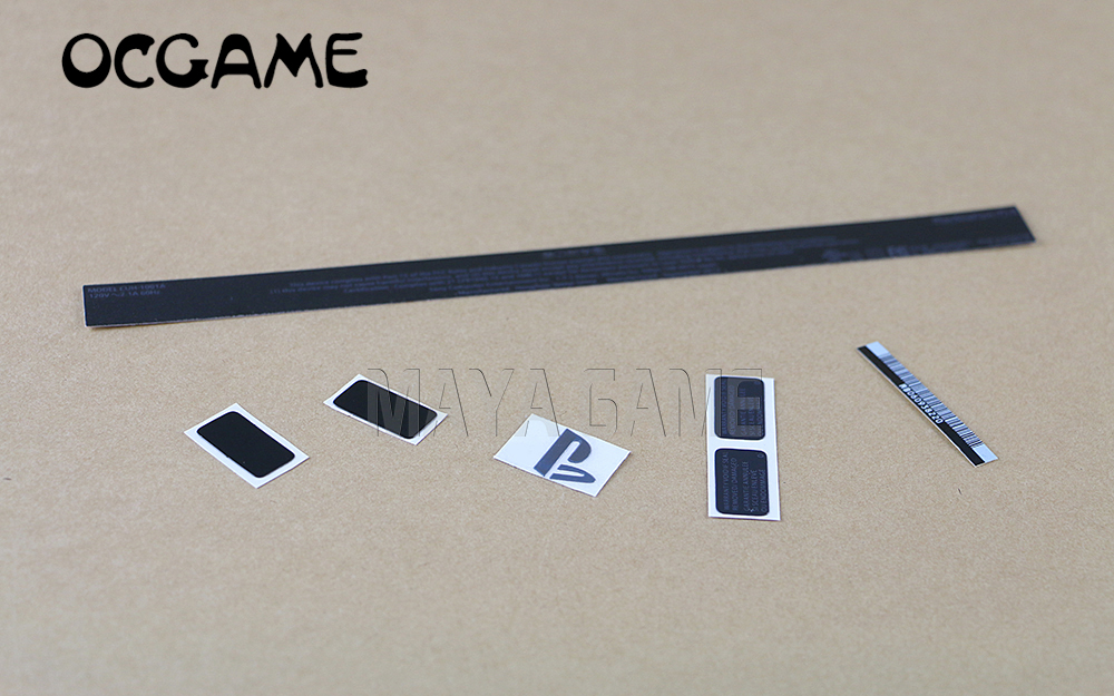 OCGAME For PS4 Console Slim Housing Shell Sticker Lable Seals For Playstation 4 High Quality 2sets/lot