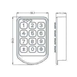 Image 2 - DC 6V Electronic password cupboard door lock electronic combination lock drawer lock / file cabinet lock