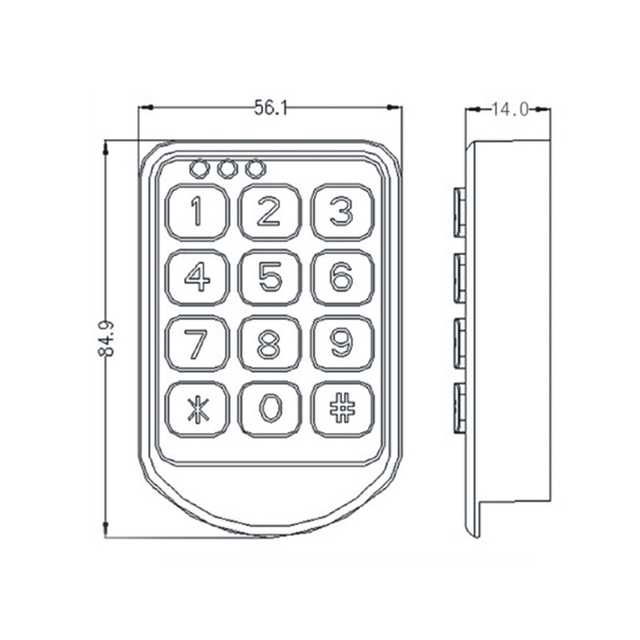 DC-6V Electronic password cupboard door lock electronic combination lock drawer lock / file cabinet lock