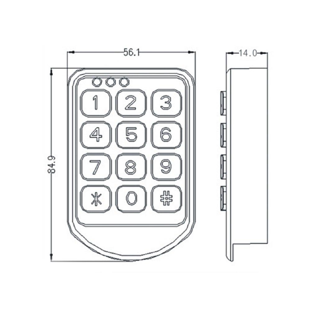 Image 2 - DC 6V электронный пароль замок двери шкафа электронный кодовый замок ящика/файл замок шкафа-in Электрический замок from Безопасность и защита on AliExpress