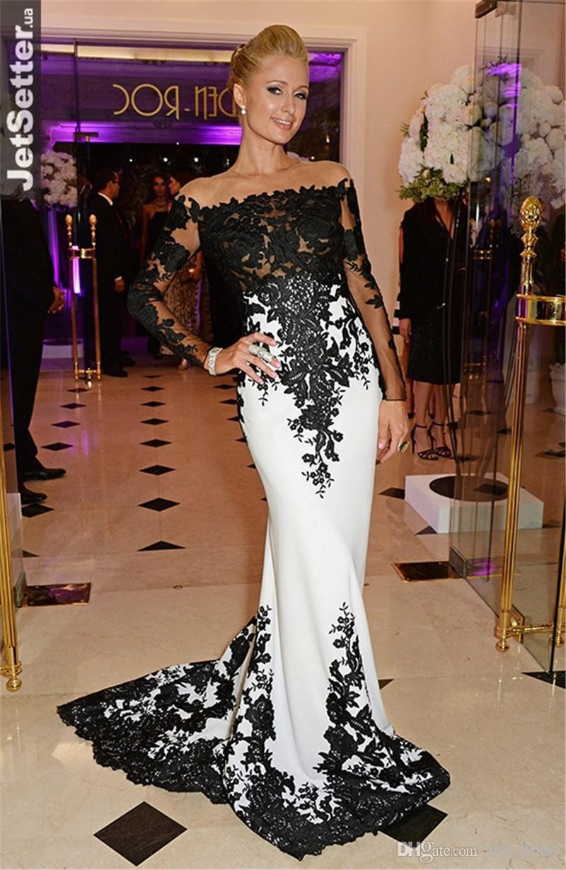 New 2018 Custom Made Met Gala Paris Hilton Celebrity Dresses Black ...