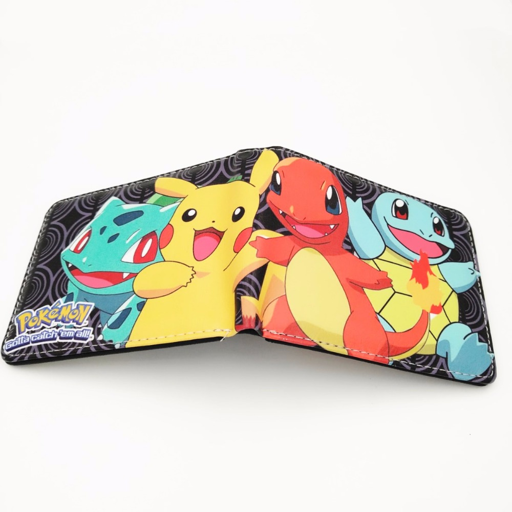 Cartoon Anime Pokemon Short Wallet Lovely Pikachu Purse Dollar Price W314 2016 new arriving pu leather short wallet the price is right and grand theft auto new fashion anime cartoon purse cool billfold