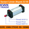 SC100 Standard Air Cylinders Valve Magnet Bore 100mm Strock 350mm To 1000mm Stroke Single Rod Double