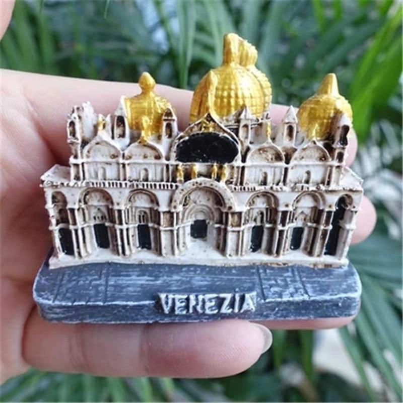 ₪Italia Imanes de nevera Venecia Basílica di San Marco figurines ...
