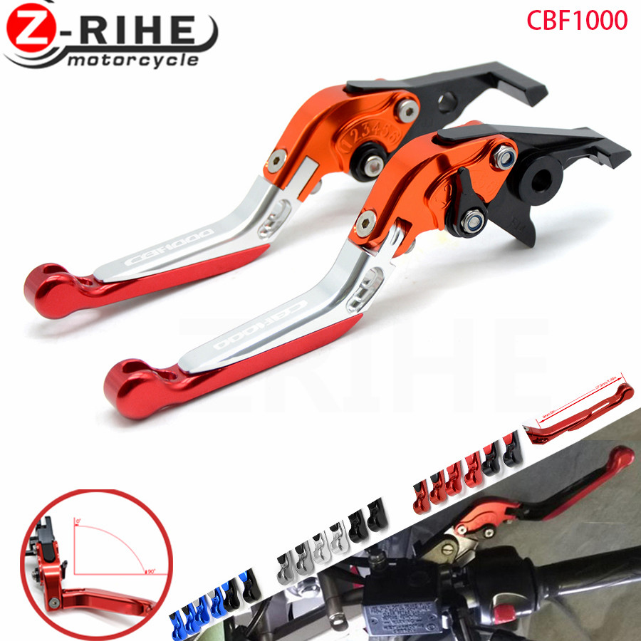 FOR Colors CNC Adjustable Folding Extendable Motorcycle Brake Clutch Levers For Honda CBF1000 CBF 1000 2010
