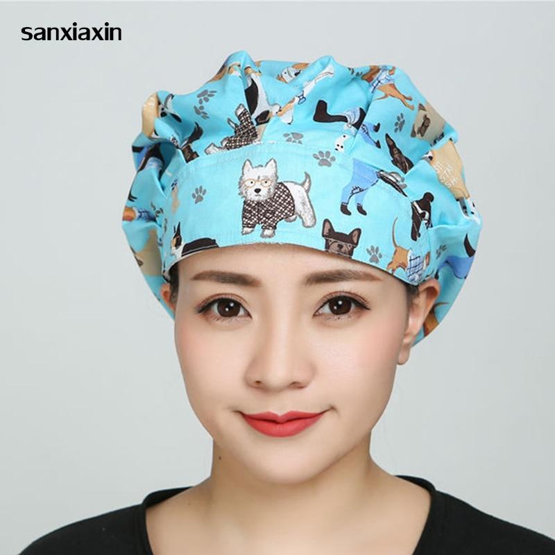 Sanxiaxin Surgical Caps Doctor Nurse Medical Cap Hospital Laser Eye  Surgical Caps Medical Cap Print Women Fluffy For Long Hair