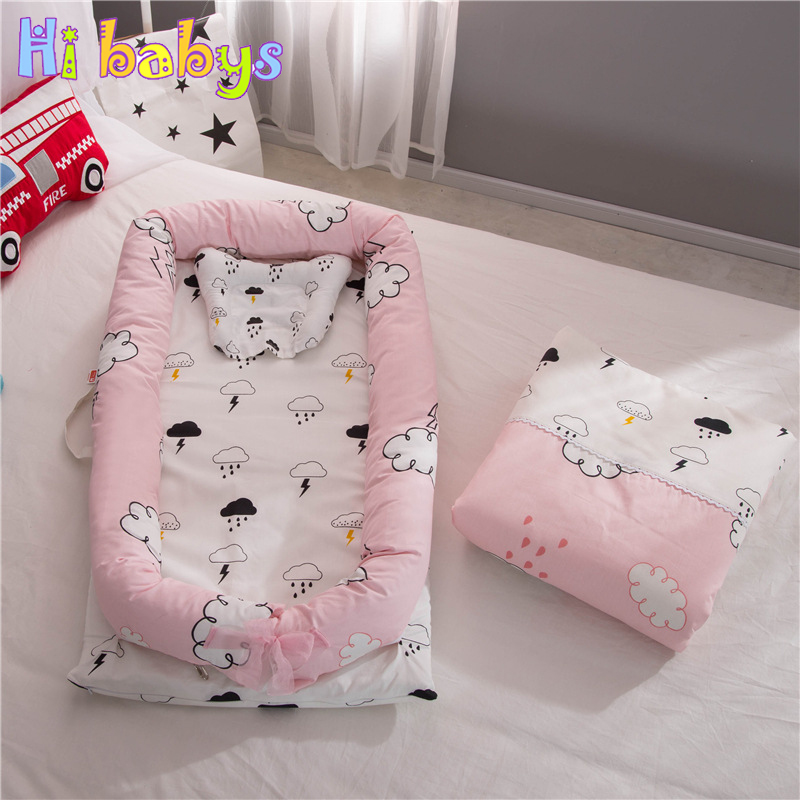 Portable Baby Nursery Nest Bed Cot Newborn bionic bed crib cot Infant Toddler Sleeping Size Bed