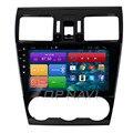 O Envio gratuito de 9 ''Quad Core Android 4.4 PC Do Carro de Som Do Carro para Forester 2015 Com Áudio de Rádio GPS Mapa Wifi Bluetooth Sem DVD