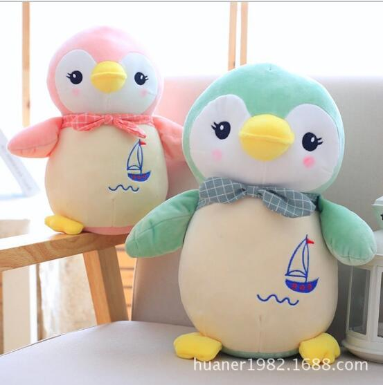 55CM Down cotton Penguin dolls animal Penguin plush toys Super soft sleeping dolls birthday gifts penguin ice breaking save the penguin great family toys gifts desktop game fun game who make the penguin fall off lose this game