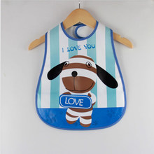 waterproof bib things for baby skip zoo smock newborn baby accessories plastic bibs round bib waterproof smock i love mom(China)