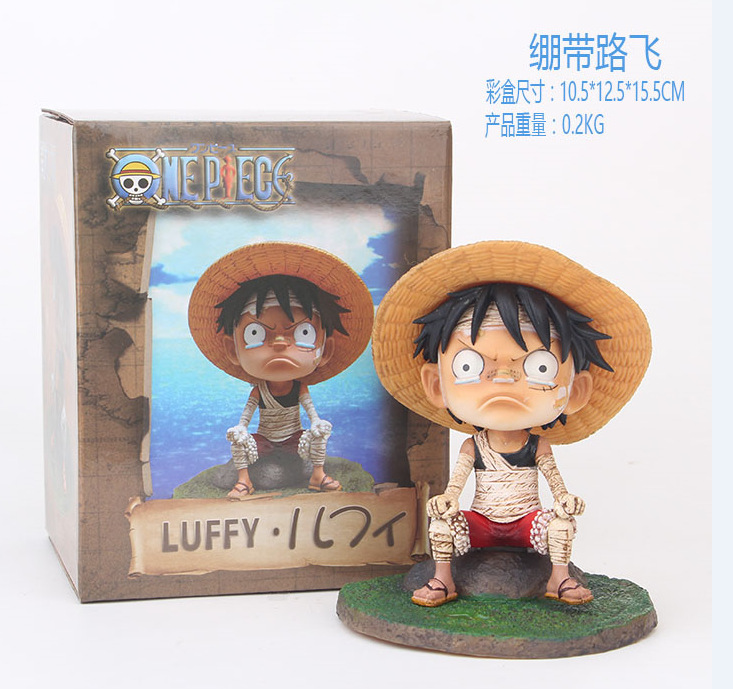 Us 10 91 10 Off Anime One Piece Bandage Monkey D Luffy Angry Boy Pvc Action Figure Resin Collection Model Toy Doll Gifts Cosplay In Action Toy