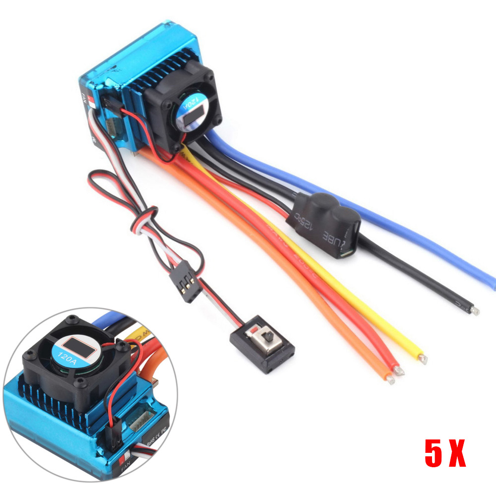 5pcs/lot 35A/60A/120A ESC High Quality PCB Plate Sensored BEC Brushless Speed Controller With ESC For 1/8 1/10 1/12 Car Crawler