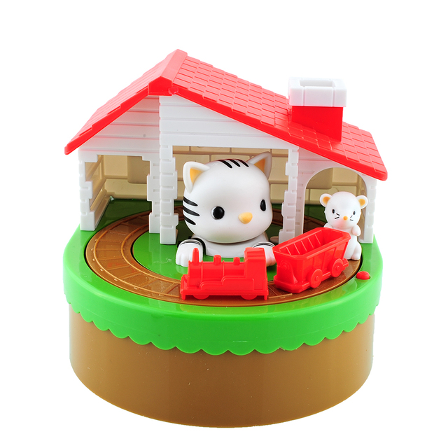 2015*Itazura Automated Stealing Coin Cat Mouse Kitty Penny Piggy Bank Saving Box Kid Child Present Gift