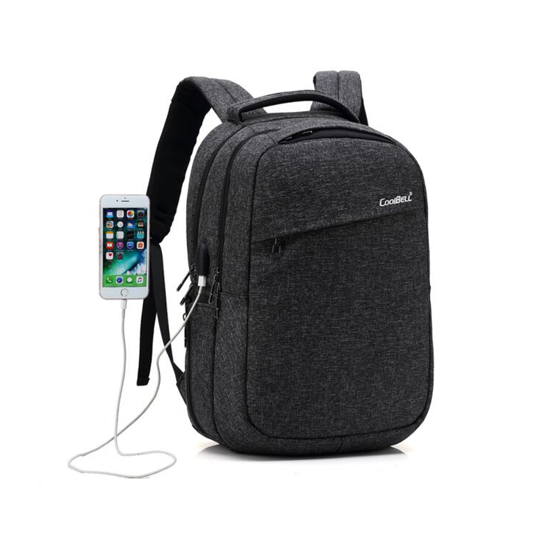 CoolBell Waterproof 15.6'' Men Business Laptop Backpack External USB Charge Computer Backpacks Male Waterproof Bags men laptop bags mochila backpack waterproof military women brand military antitheft external usb charge computer rucksacks t0221