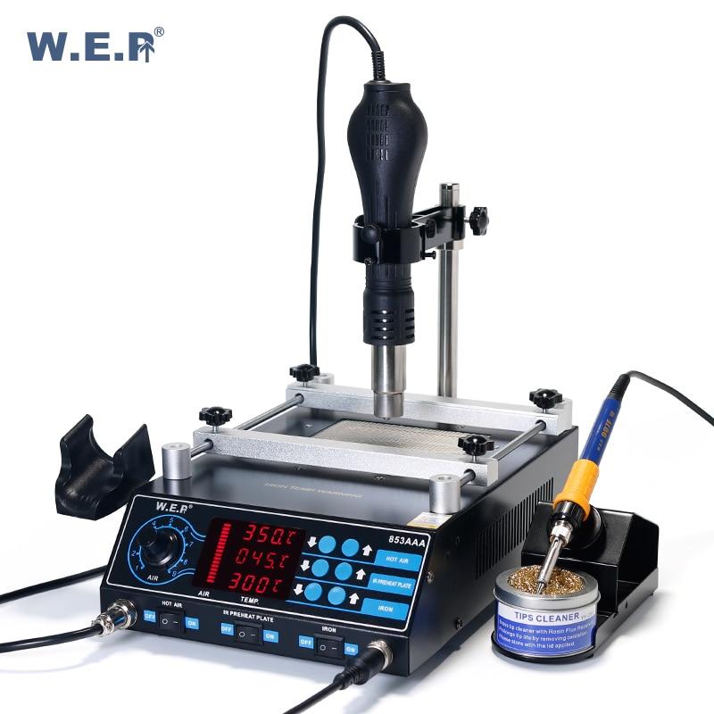 WEP 853AAA Motherboard of Mobile Computer BGA Preheating Rework Station Large Power Heater Soldering Iron Adjustable Bracket