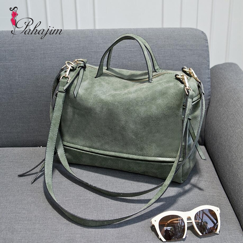 2017 Women's Shoulder Bag Nubuck Leather Vintage Messenger Bag Motorcycle Shoulder Bags Women's Bag