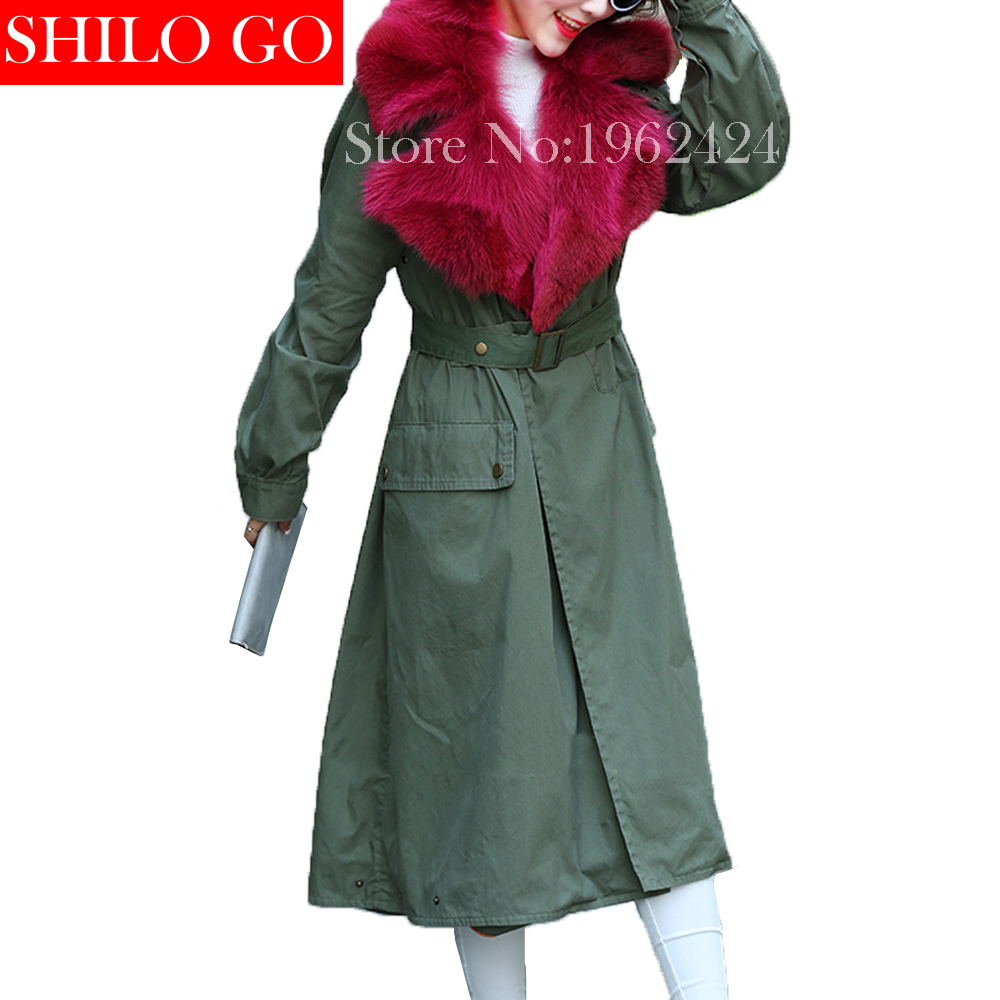 HOT2016 new fashion summer women high quality red wolf fur grass fur collar and long sections
