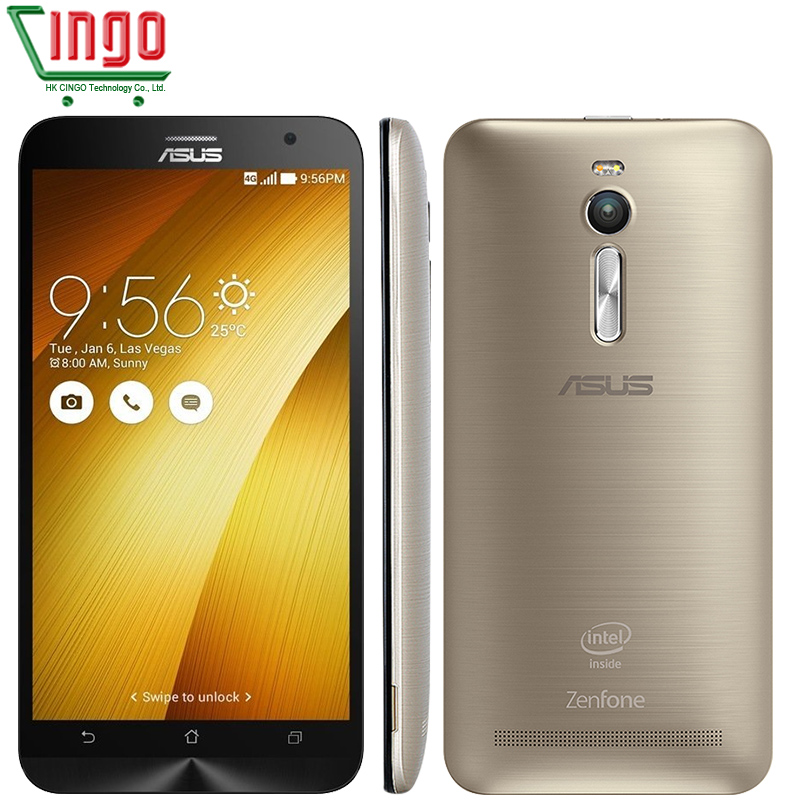 "Original ASUS Zenfone 2 ZE551ML 4G Cell Phones Z3560 1.8GHz 4GB RAM 32GB 5.5"" 1920x1080 Android 5.0 Wife13MP Camera ASUS 2"