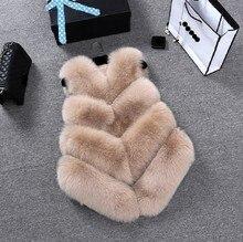 ZADORIN 2018 Luxury Faux Fox Fur Vest Women Plus Size Furry Short Faux Fur Vests Coat Fur Gilet Fourrure Autumn Winter Overcoat