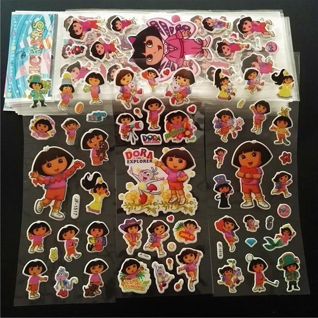5pcs Lot Cartoon Dora Bubble Stickers For Kids Doras Party Supplies