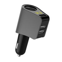 USB Car Charger Extended Cigarette Lighter Power Connector LED for fiat punto 500 bravo freemont stilo panda linea ducato doblo