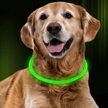 LED Dog Collar USB Rechargeable Luminous Dog Collars