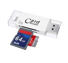 USB SD, SDHC MicroSD TF Card Reader Писатель для Ipad Air Pro Mini для iPhone 7 6 6 S плюс 5 5S для Samsung Xiaomi OTG телефона Android