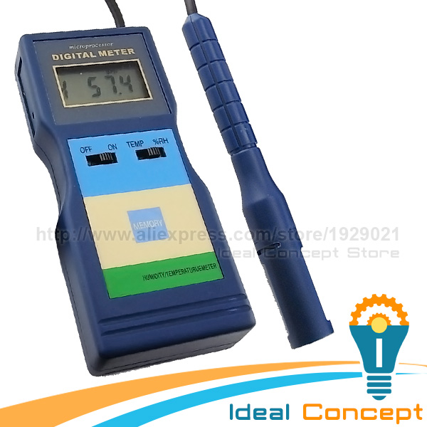ФОТО 2-in-1 Temperature Humidity Meter Sensitive Sensor Portable Digital LCD Tester