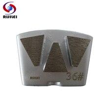 RIJILEI 3PCS/lot Diamond Grinding Plates HTC Concrete Metal Bond Shoes  for Floor Renovation H50