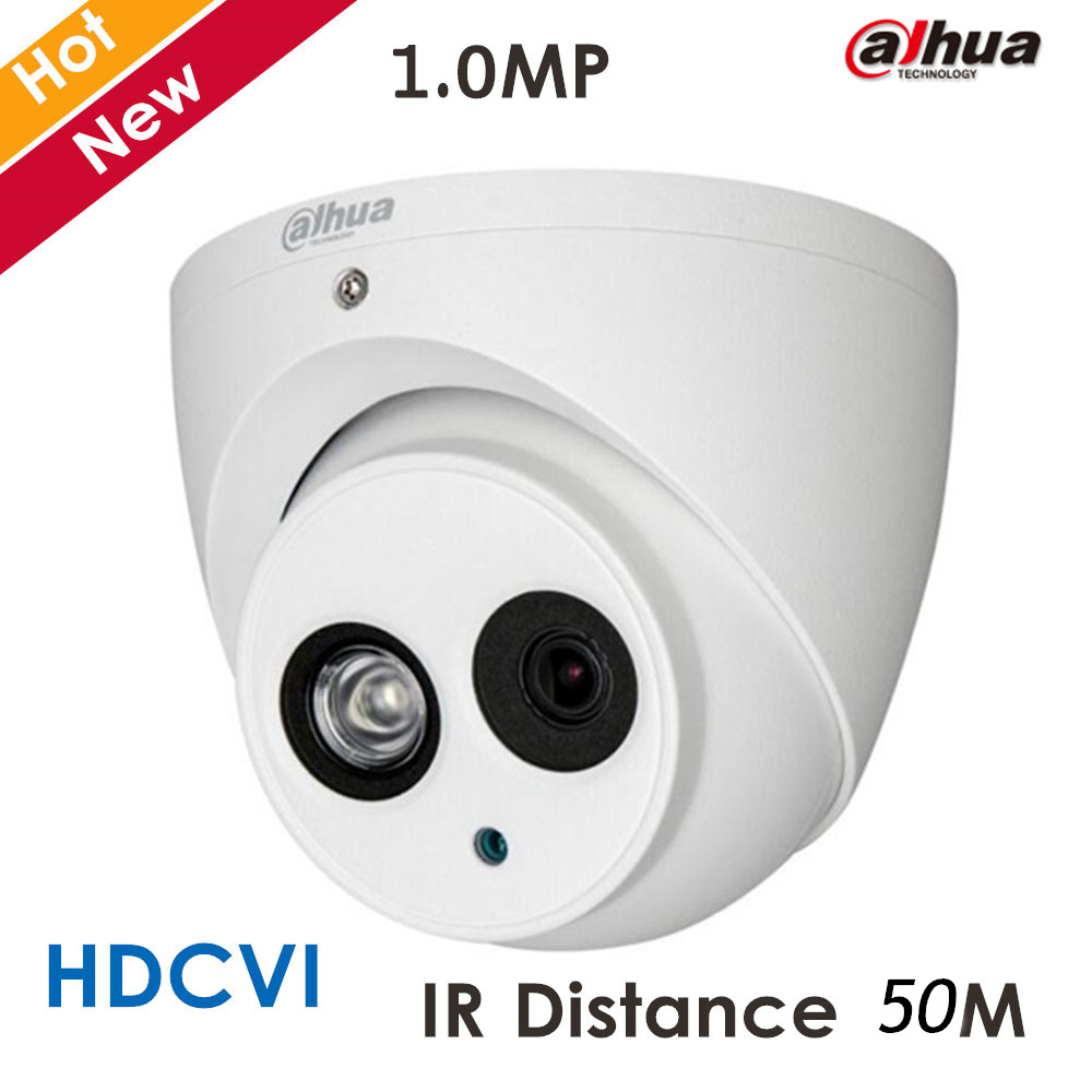 Dahua New HDCVI Camera DH-HAC-HDW1020E 1mp IR Distance 50M security cctv Dome Camera ip67 with Super Night Vision 4 in 1 ir high speed dome camera ahd tvi cvi cvbs 1080p output ir night vision 150m ptz dome camera with wiper