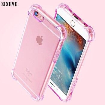 Funda transparente de teléfono móvil para iPhone XS Max XR X 10 8 7 6 s 6 s Plus 7Plus, funda de silicona blanda a prueba de golpes para Samsung Galaxy S8 S9