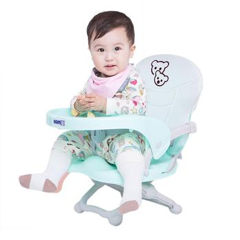 Portable Children's Dining Chair Baby Eating Chair Multi-function Folding Outdoor Baby Table Seat with Cushion