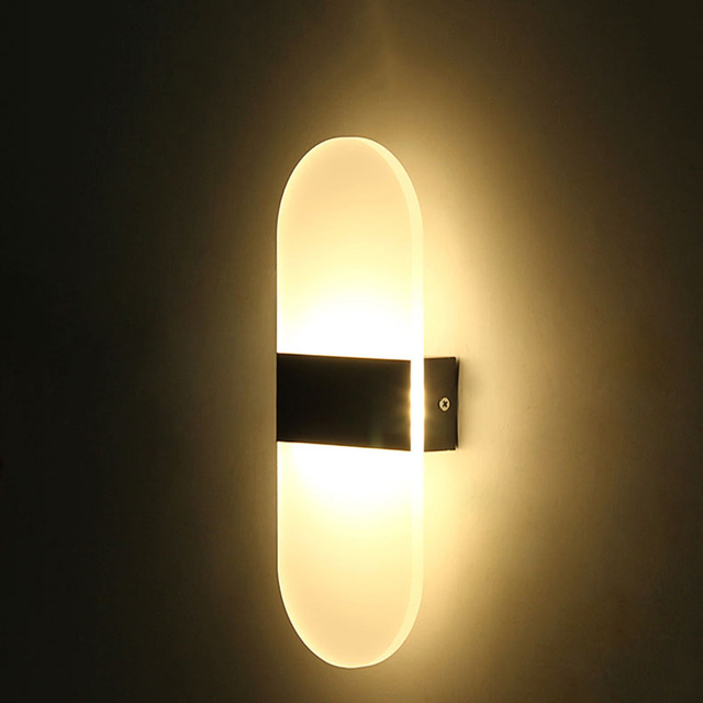 Modern Led Acrylic Wall Lamp Ac85 265v Diffuse Light Mounted Bedroom Bedside Corridor Foyer Study Decoration Lights