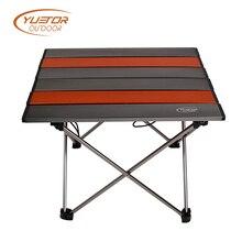 YUETOR Открытый Горячий маленький размер ультра-светильник портативный складной стол Кемпинг Открытый Пикник алюминиевый сплав оранжевый