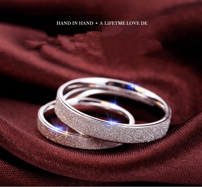 Classic 925 Sterling Silver Couple Rings For Lovers Wholesale