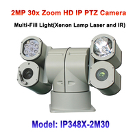 2MP 1080p 30x Optical Zoom 500m Night Vision 4 Housing PTZ HD IP Camera For Public