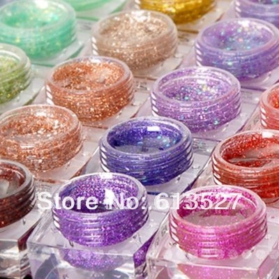 Free Shipping - 36 Color GLITTER UV BUILDER GEL NAIL Gel