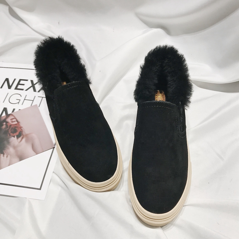 2018 winter new Korean version of the sexy frosted leather wool and at the end of comfortable female shoe the new spring and summer ms south korea ensure their boots comfortable show female water thin antiskid tall canister shoe