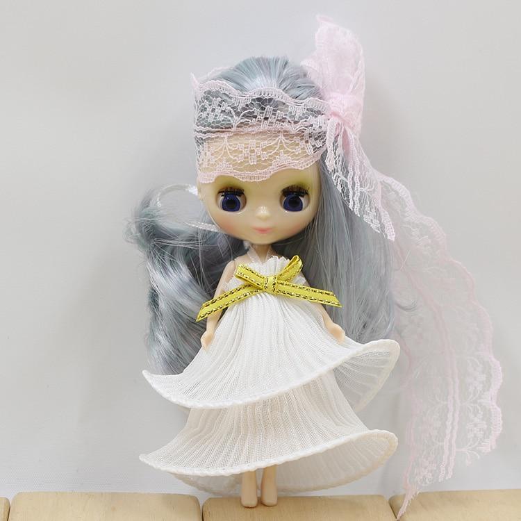 Petite Blythe Doll Pullip White Lace Dress 2