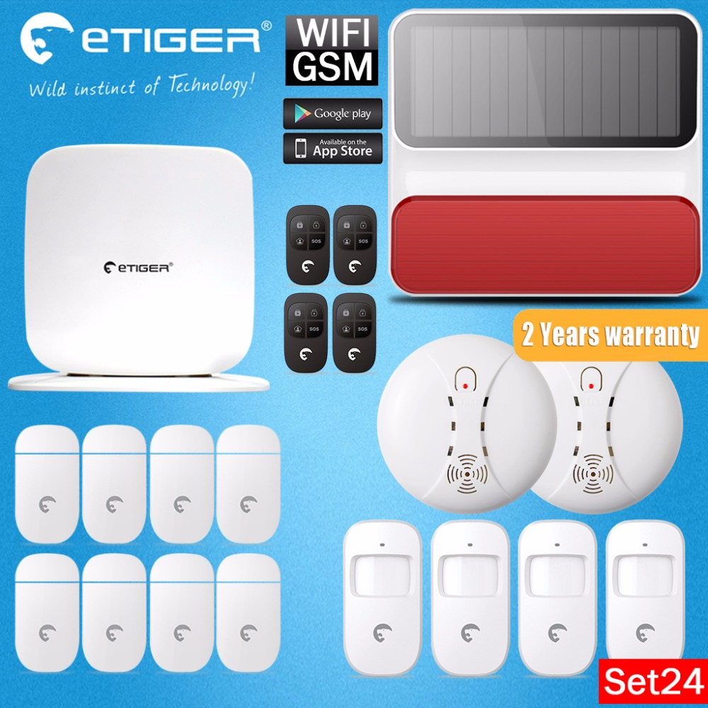 Home Design Etiger Secual Box V2 Smart Home  WIFI GSM Burglar Alarm System For Safety IOS Android APP Control Easy Installation цена и фото
