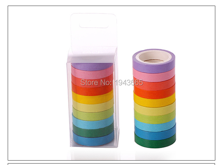 Creative Cute Rainbow Masking Washi Tape Japanese Decorative Adhesive Tape Diy Scrapbooking Tools Sticker Label 7 5mmx5m in Office Adhesive Tape from Office School Supplies