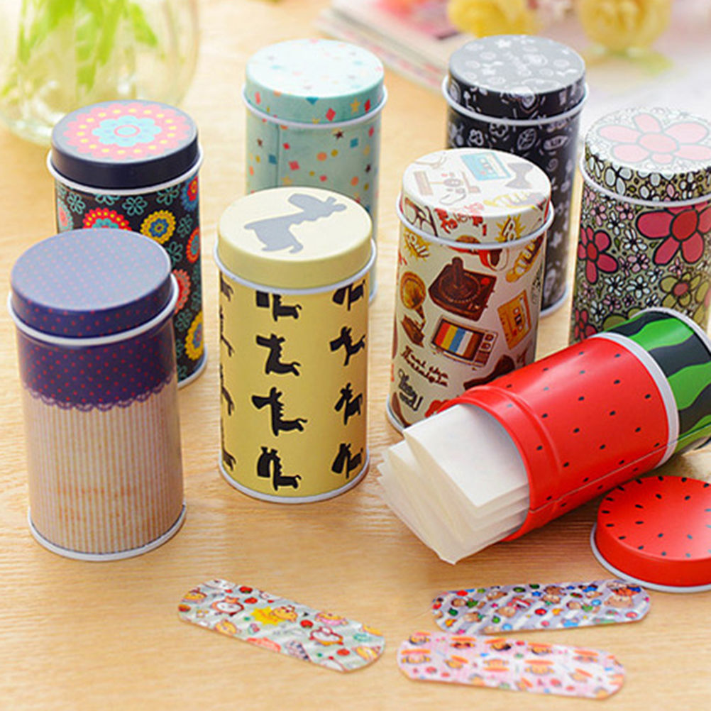 Korea Cute Cartoon Waterproof Bandage Band-aid Hemostatic Adhesive For Kids Children Braces Supports 1 Box