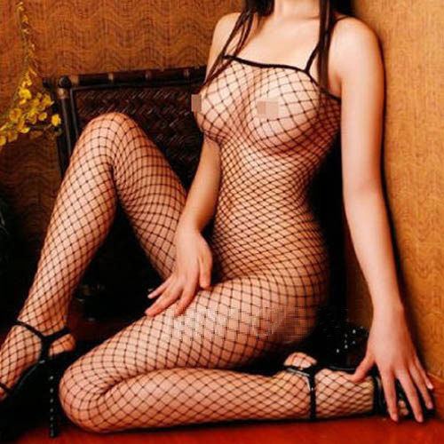 Black Sexy Net Body Stocking Crotchless Fishnet Open Crotch Lingerie Sleepwear